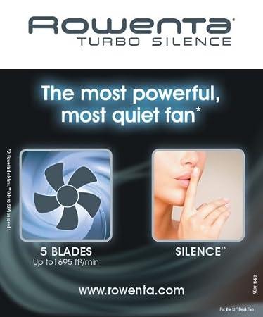Rowenta VU2531 Turbo Silence - Ventilador oscilante para Mesa (12