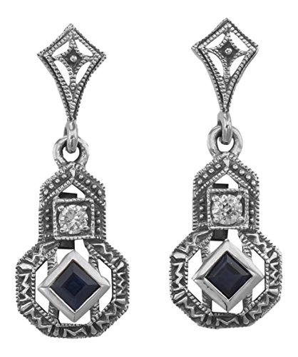 Art Deco Style Sapphire & Cubi