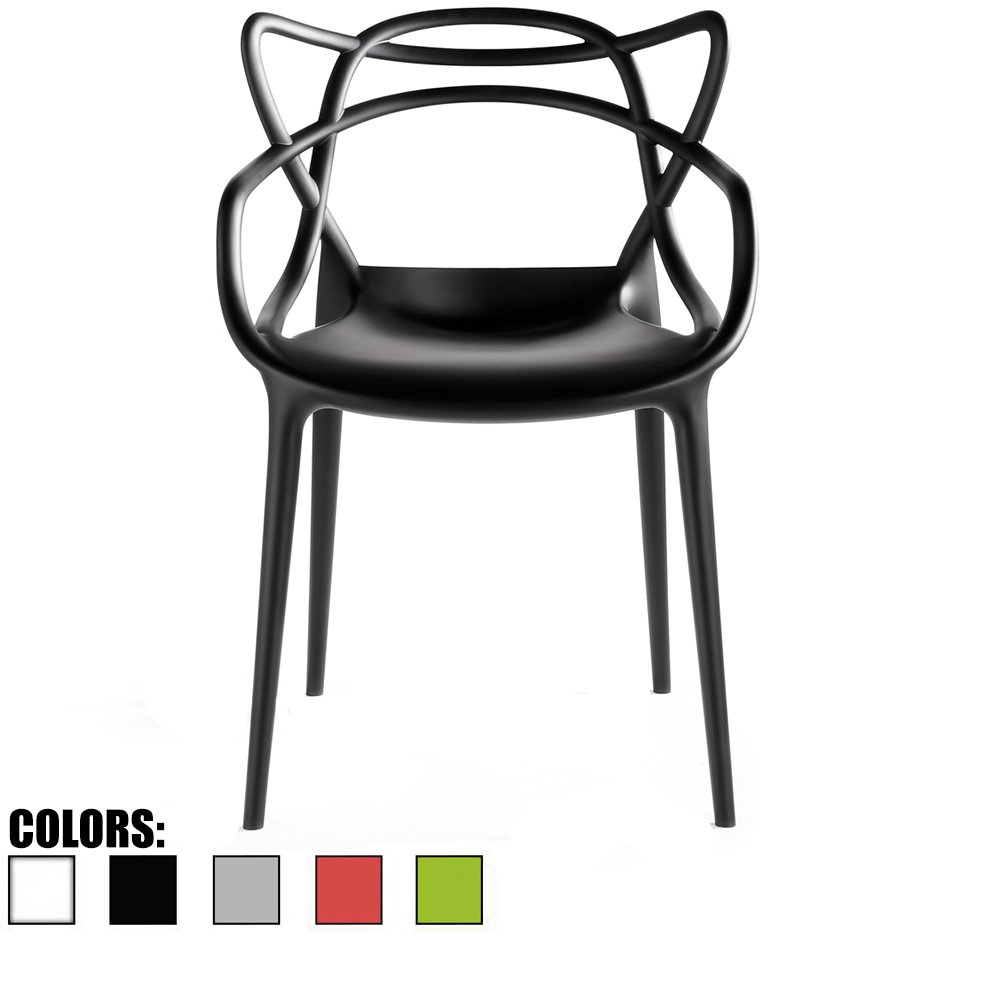 Amazon com 2xhome single 1 chair total black dining room chair modern contemporary designer designed popular home office work indoor outdoor armchair