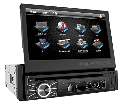 Power Acoustik PTID-8920B In-Dash DVD AM/FM Receiver with 7-Inch Flip-Out Touchscreen Monitor and USB/SD - Discovery Viewer