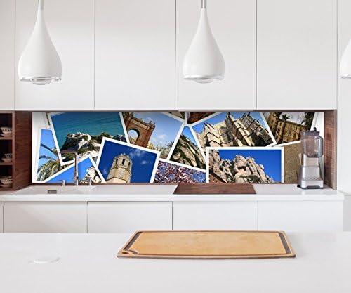 Aufkleber Kuchenruckwand Spanien Reise Fotos Collage Bilder Sehenswurdigkeiten Kitchen Kuche Folie Fliesen Mobelfolie Spritzschutz 22 1557 Hohe X Lange 60cm X 60cm Amazon De Kuche Haushalt