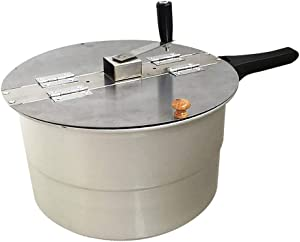 Gas Stove Hot Air Popcorn Machine, Hand-Operated Stovetop Gas Popcorn Maker Commercial Home Use Manual Corn Pressure Cooker