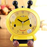Make You Happy Alarm Clock Creative Cartoon Bee Silent Children Night Light Alarm