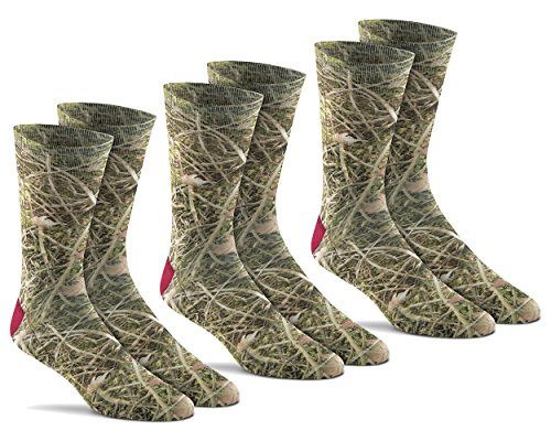 Fox River Mills 3 Pack Mirage Liner Sock (Woodland Camo, Large)
