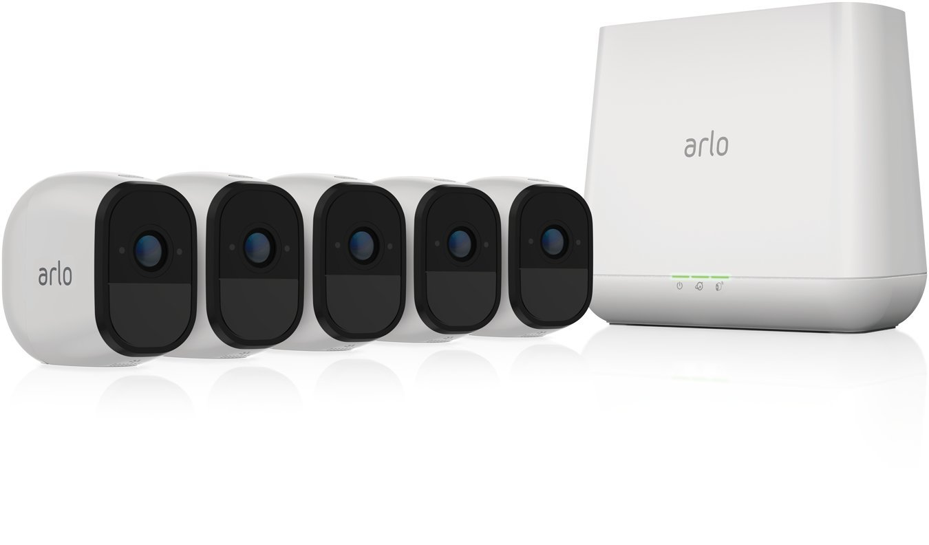 Arlo Pro - Renewed - Wireless Home Security Camera System | Rechargeable, Night vision, Indoor/Outdoor, HD Video, 2-Way Audio | Cloud Storage Included | 5 camera kit (VMS4530-100NAR) by Arlo Technologies, Inc