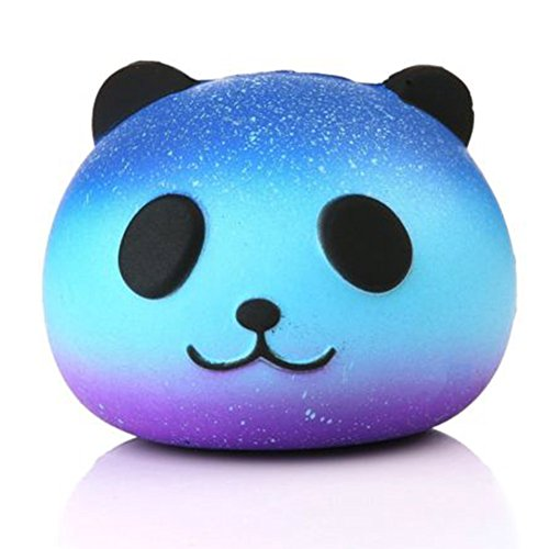 Uspeedy Cute Squishy Slow Rising Soft Squishy Charms Toy for Stress Relief and Time Killing (3 3 Star Panda)