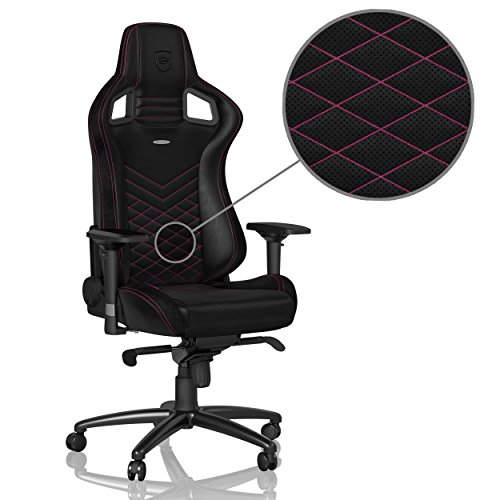 Price comparison product image noblechairs EPIC Gaming Chair / Office Chair • Vegan Friendly PU Leather • Ergonomic • Up to 265lbs Users • 135° Reclinable • Wheels • Arm Rests Adj. in 4 Dimensions • Racing Seat Design • Black / Pink