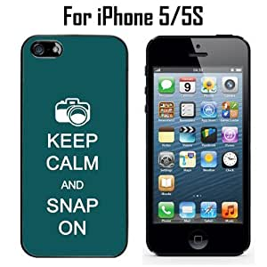 Keep Calm Snap On Custom Case/ Cover/Skin *NEW* Case for Apple iPhone 5/5S - Black - Plastic Case (Ships from CA) Custom Protective Case , Design Case-ATT Verizon T-mobile Sprint ,Friendly Packaging - Slim Case