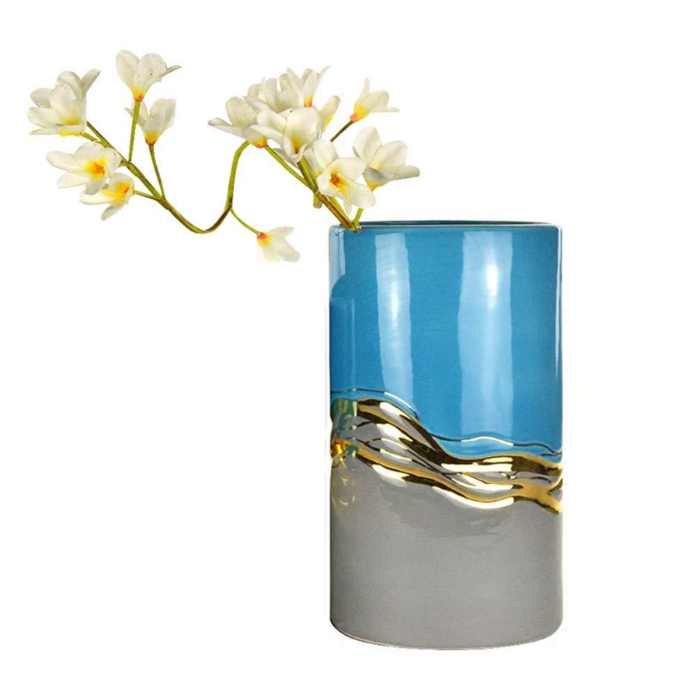 セラミック花瓶用花緑植物結婚式の植木鉢装飾ホームオフィスデスク花瓶花バスケットフロア花瓶 (サイズ さいず : L l) B07QNQ7B27  L l