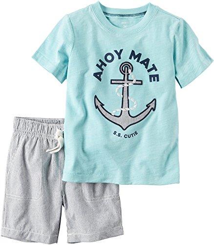 Carters Boys 2 Piece Shirt Short