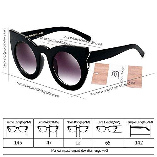 De Féminine Oeil Chat Party Bozevon Lens Cute À Noir Gradient Color Mode Soleil gris Lunettes Eyewear Rétro w5qRpFX