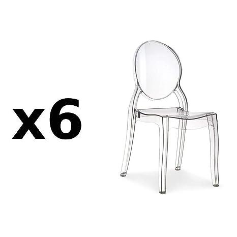 INSIDE 75 Fashion Commerce - Juego de 6 sillas de diseño ...
