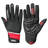 Bike Gloves Cycling Gloves Bicycle Gloves-HOMPO Touch Screen Full Finger Riding Gloves Motorcycle Gloves Outdoor Sports Gloves for Men&Women(S-XL)
