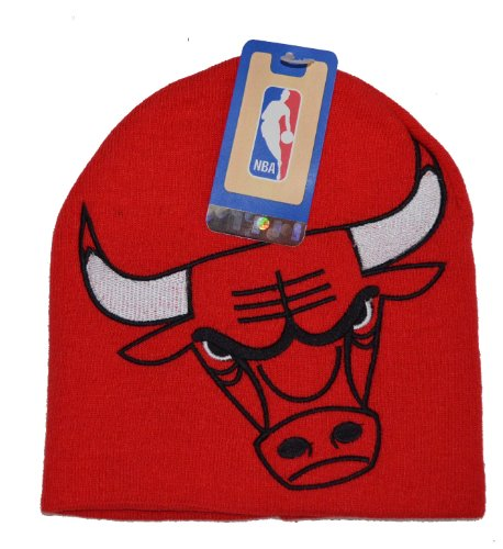 Chicago Bulls Big Logo Skull Cap - NBA Cuffless (Big Logo Beanie)