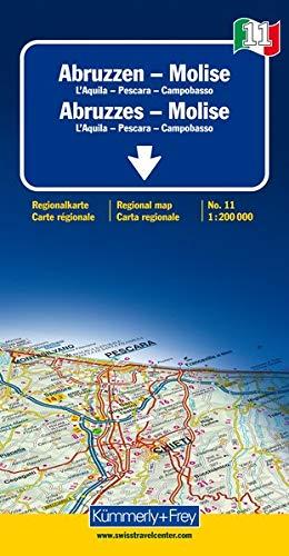 Italien 11. Abruzzen - Molise de Agostini 1 : 200 000. Straßenkarte (Kümmerly+Frey Reisekarten)