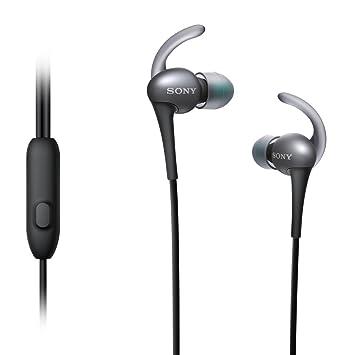 sony earphones. sony mdras800ap active sports smartphone headset (black) earphones