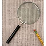 "The Classic Magnifying Glass 3"" with Powerful 5X Magnification - Metal Frame"