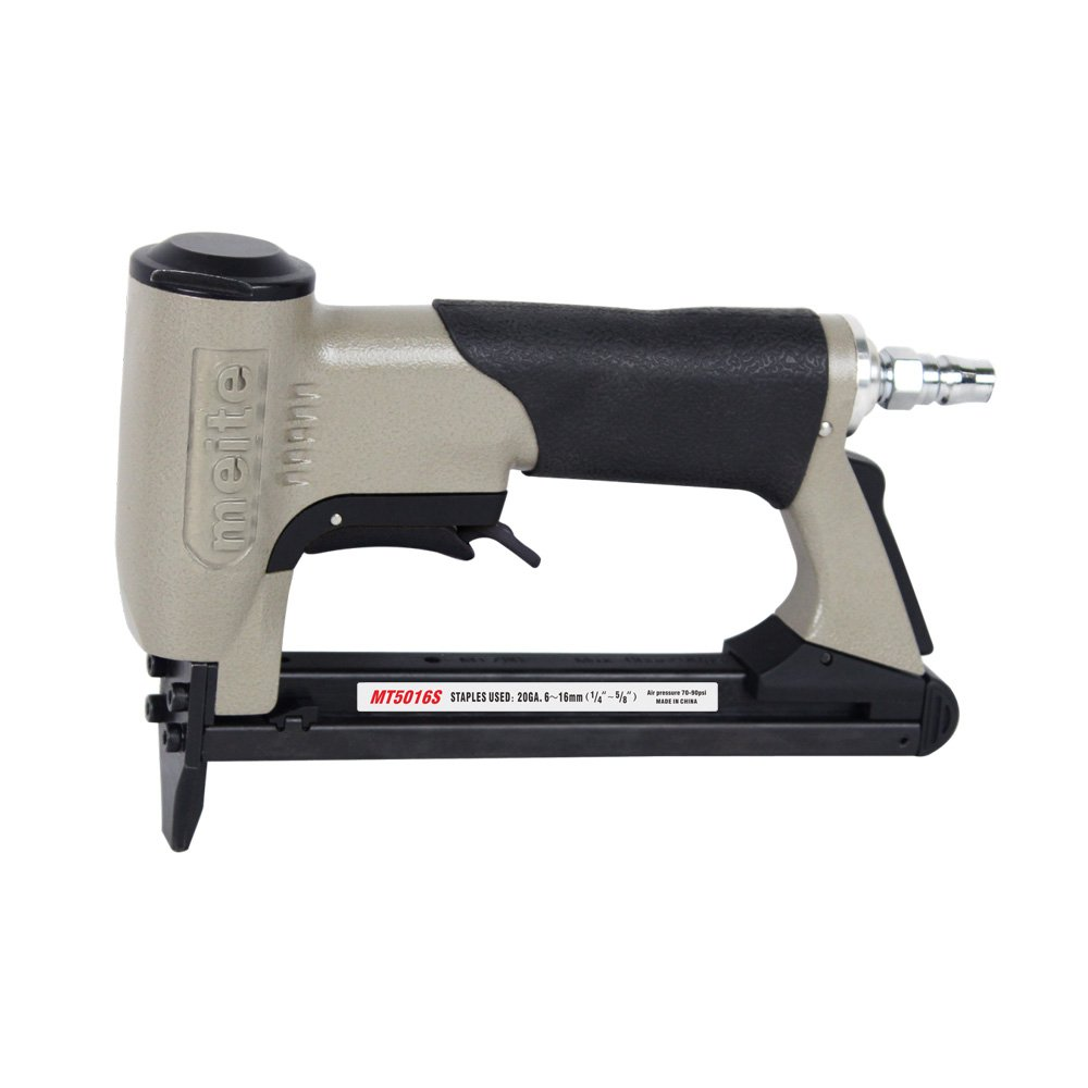 meite MT5016S Upholstery Stapler- 20 Gauge 1/2-Inch Crown Fine Wire Stapler With Safety Upholstery Stapler-(1/4''-5/8'' #MT5016S)