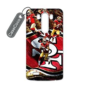 CASECOCO(TM) San Francisco 49ers LG G3 Case - Protective Hard Back / Black Rubber Sides Case for LG G3 by ruishername
