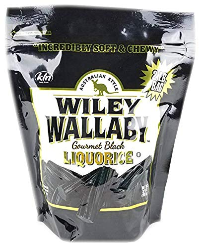 Wiley Wallaby Australian Gourmet Style Black Licorice Candy 32 Oz. 2 LB (Original Version) by Wiley Wallaby