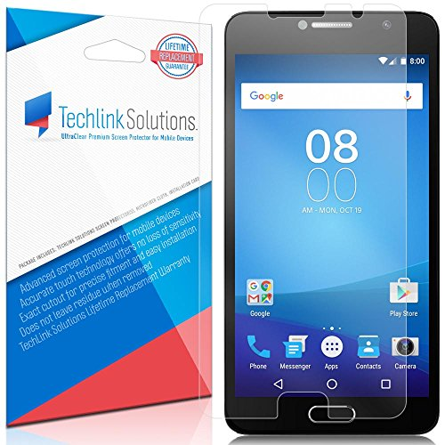 Tempered Glass For Alcatel Flash Plus 2 with Free Back Case (Blue) - 3