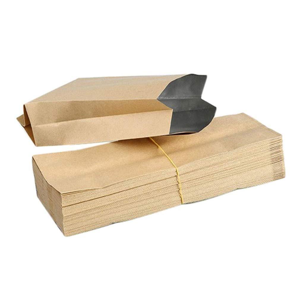50 bolsas papel kraft marr/ón//Bolsa de papel Kraft bolsas de comida bolsas de frutas s/éch/és bolsas de t/é,Bolsas Papel Peque/ñas sin Asas para Chuches Bocadillos Ban Almuerzo Bocadillo Bolsa Llevar