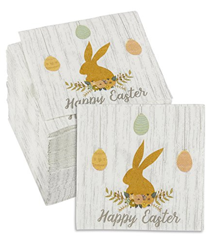 150-Pack Decorative Easter Napkins - Disposable Paper Party Napkins with Easter Bunny Designs - Perfect for Birthdays, Easter and Special Occasions, 5 x 5 Inches - Easter Bunny Paper