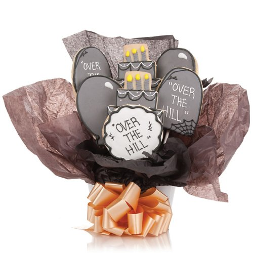 Over the Hill Cookie Bouquet- 9 Pc - Halloween Bouquet Cookie