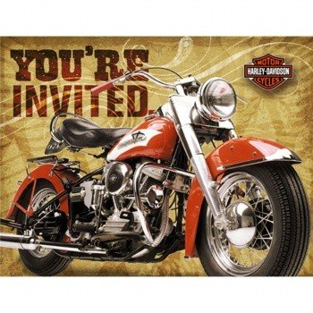 Image Unavailable Not Available For Color Harley Davidson Party Invitations