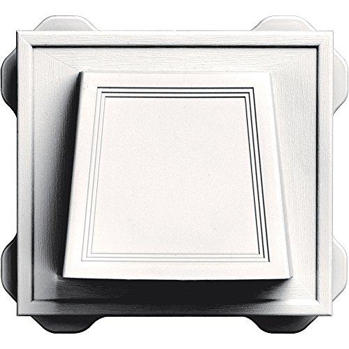 (Builders Edge 140116774117 Vent, Bright White)