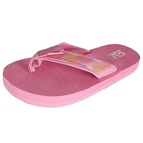 (Teva Mush II Flip Flop Sandal Shoes, Pink Multi Sparkle, US 12 Little Kid )