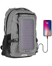 SunnyBAG Explorer+, Zaino con Pannello Solare Integrato da 6Watt, Zaino Solare Impermeabile e Resistente, con Porta USB per ricaricare Laptop, cellulari, Fotocamere, Tablet, powerbank ECC.