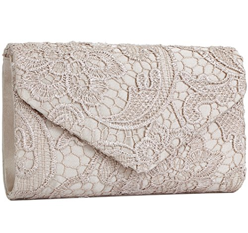 Jubileens-Womens-Elegant-Floral-Lace-Envelope-Clutch-Evening-Prom-Handbag-Purse