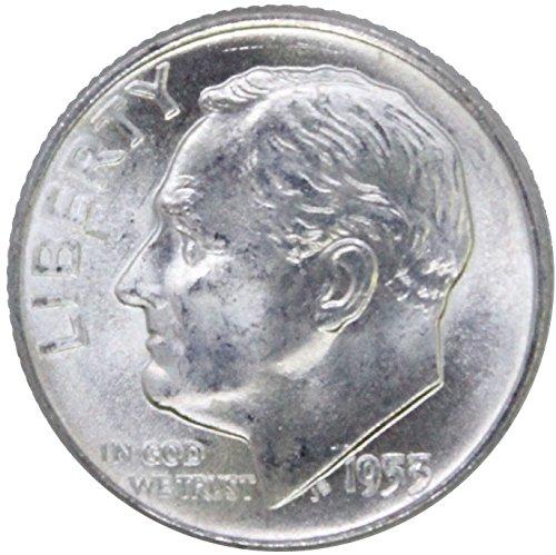 1955 S Silver Roosevelt Dime 10C BU