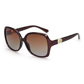ZHIRONG Gafas de sol polarizadas de lujo de las mujeres transparentes gafas retro gafas de marco