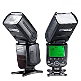 Neewer E-TLL Master/Slave Camera Flash for CANON ~Master Wireless Control~ *High Speed Sync* Speedlite EOS 5D Mark III II 2 3 1Ds 6D 7D 60D 50D 40D 30D 300D 100D 350D 400D 450D 500D 550D 600D 650D 700D 1000D 1100D/EOS Digital Rebel, SL1, XT, Xti, Xsi, T1i, T2i, T3i, T4i, T5i, XS, T3 SLR Cameras NW982C-II