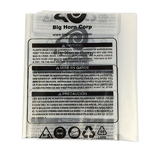 Big Horn 11785 Disposable Clear Plastic Dust Bags for Delta and Other 16-1/2-Inch Units, 5-Pack (Delta 50 760 Dust Collector Replacement Bags)