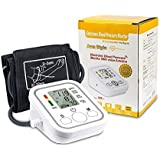 Blood Pressure Monitoring Digital Blood Pressure Cuff Automatic Upper Arm Heart Rate Monitor Wrist BP Monitor with Adjustable Large Cuff