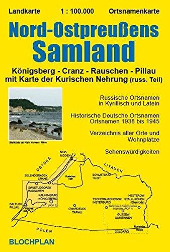 Kurische Nehrung Karte.Landkarte Nord Ostpreußens Samland Mit Karte Der Kurischen Nehrung