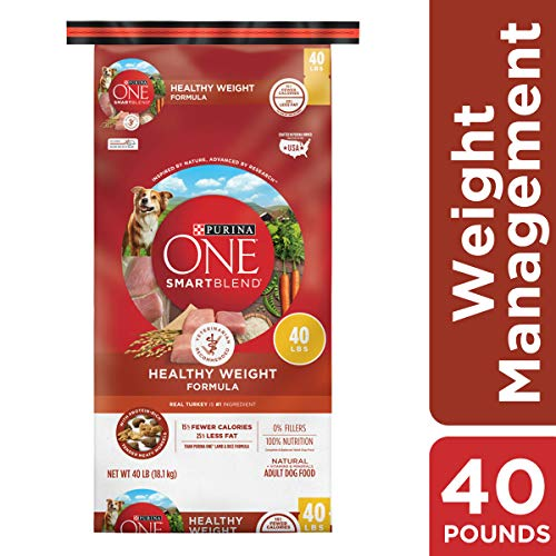 Purina ONE Weight Management, Natural Dry Dog Food, SmartBlend Healthy Weight Formula – 40 lb. Bag