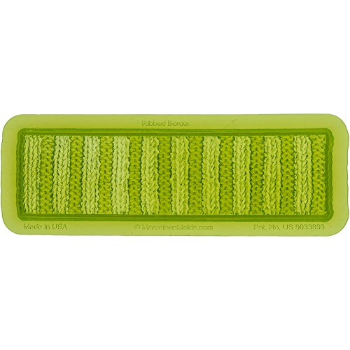 Marvelous Molds Ribbed Knit Silicone Cake Border Mold | Cake Decorating | Fondant Gum Paste Icing