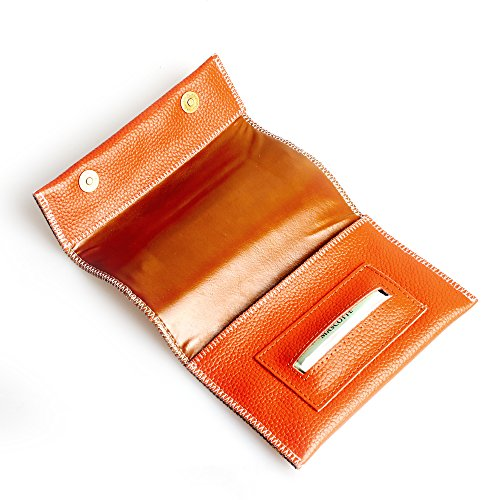 FIREDOG Rolling Tobacco Pouch Case with Rolling Tip Paper Slot Holder -CL42 (yellew)