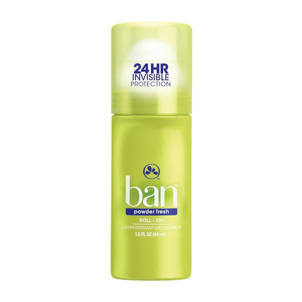Ban Roll-On Powder Fresh Deodorant, 1.5 Ounce