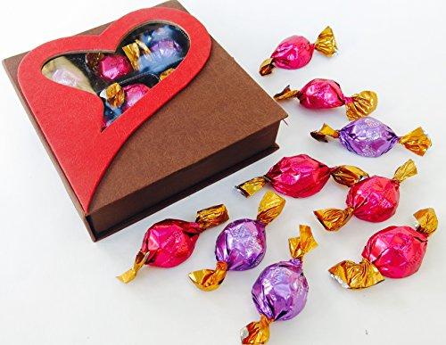 Valentine's Godiva gourmet Chocolate gifts godiva dark chocolate , milk chocolate, Red Heart Box Filled with Nine Godiva truffles.