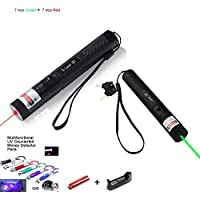 GD-301 Type Laser Flashlight/Red/Green Beam Laser Flashlight Case/Housing/Host for GD-301 Type Laser Torch Style Focusable Lazer Projector Flashlight (Green + Red)