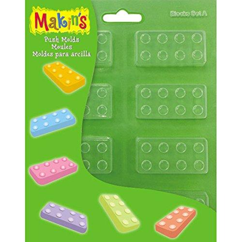 Makin'S Clay Push Molds-Blocks Set A ()