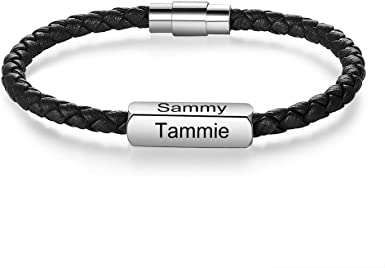 Personalized Leather bracelets for women Personalized bracelets for women custom leather bracelets Personalized womens bracelet