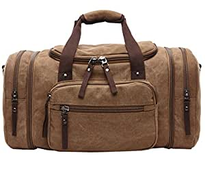 Berchirly Unisex's Canvas Duffel Bag Oversized Travel Tote Luggage Bag