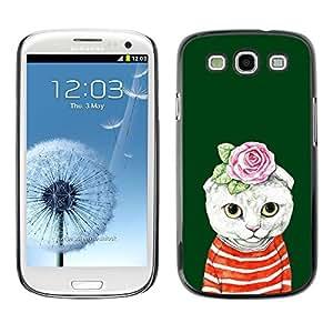[Neutron-Star] Snap-on Series Teléfono Carcasa Funda Case Caso para Samsung Galaxy S3 [Kit Gatito Gato Rose verde Absurdo]