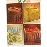 McCall's Sew News Sewing Pattern M4803. Ottoman Slipcovers. 4 Designs.